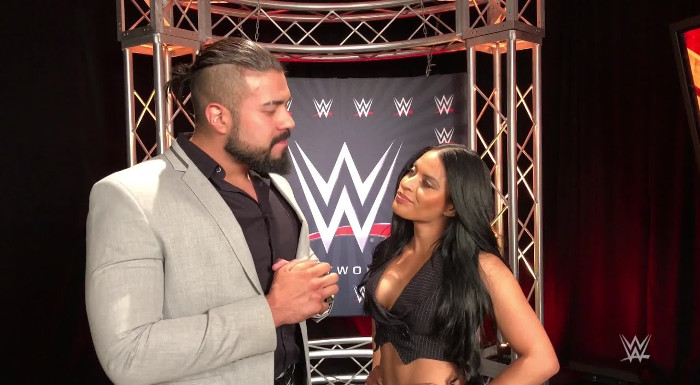 Image result for The Miz and Andrade""