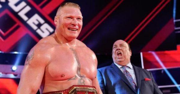 Extreme Rules Brock Lesnar and Paul Heyman