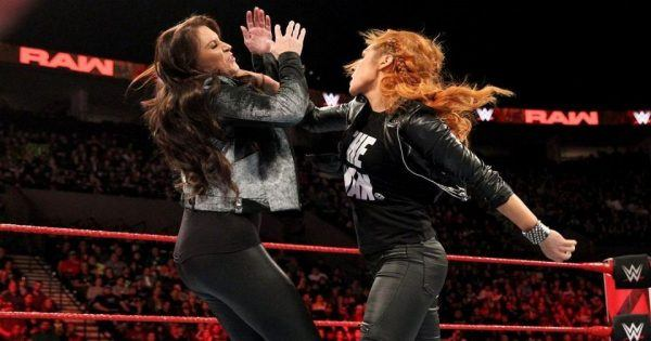 Becky Lynch and Stephanie McMahon