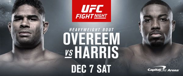 Alistair Overeem Walt Harris Headline Ufc S Washington D C