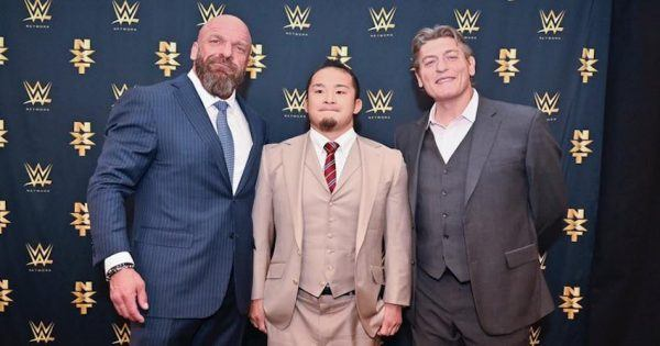 NXT's Triple H, Kushida and William Regal