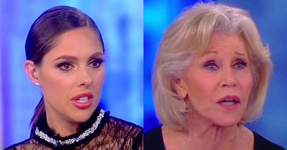 Jane Fonda And Cohost Abby Huntsman Duke It Out Over Fonda
