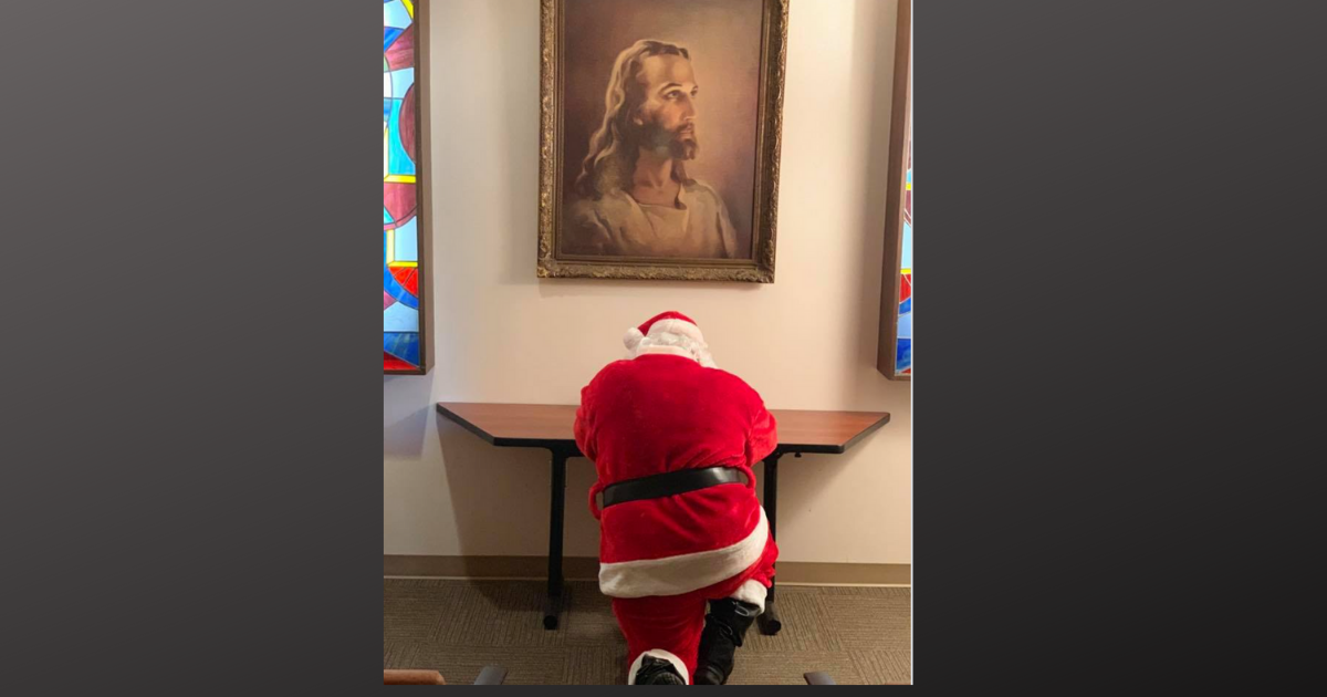 Image result for santa praying to jesus""