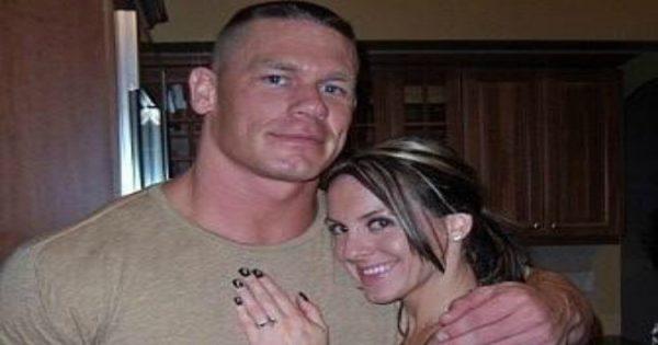 John Cena and Elizabeth Huberdau