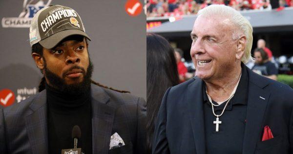 wrestling superbowl counterparts: Richard Sherman and Ric Flair