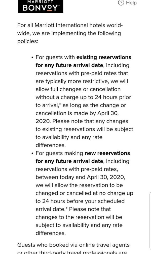 Marriott Policy