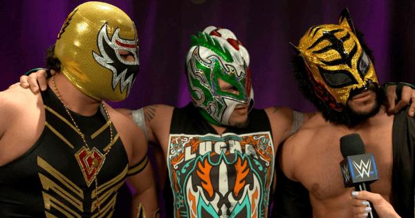 WWE Kalisto, Gran Metalik, and Lince Dorado