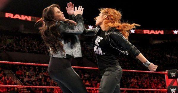 Becky Lynch and Stephanie McMahon