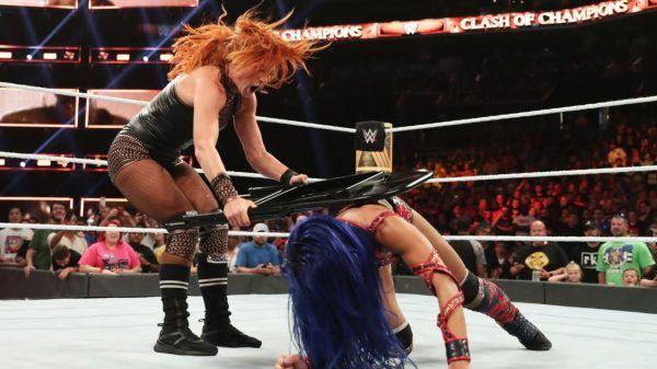 Becky Lynch and Sasha Banks