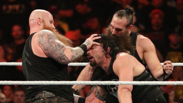 Rowan and Roman Reigns