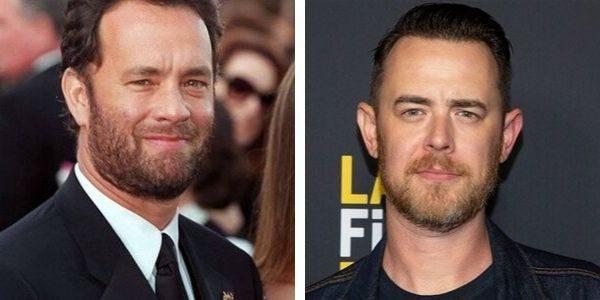 Celebrity kid lookalike Hanks
