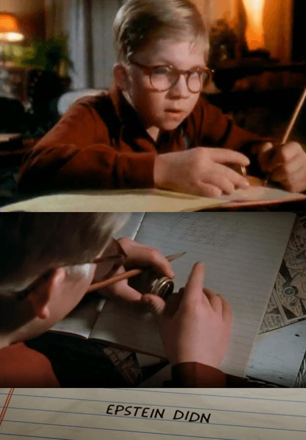 Jeffrey Esptein meme | A Christmas Story