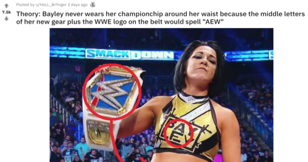 Bayley with the SmackDown Women's Championship