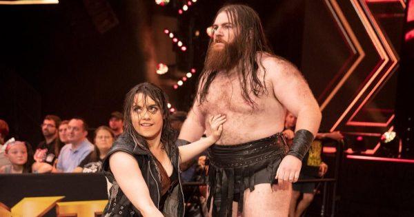 Nikki Cross and Killian Dain during their Sanity run