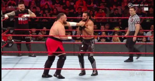 Samoa Joe gets injured during WWE tag team match