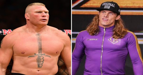 Matt riddle in Trouble with brock lesnar