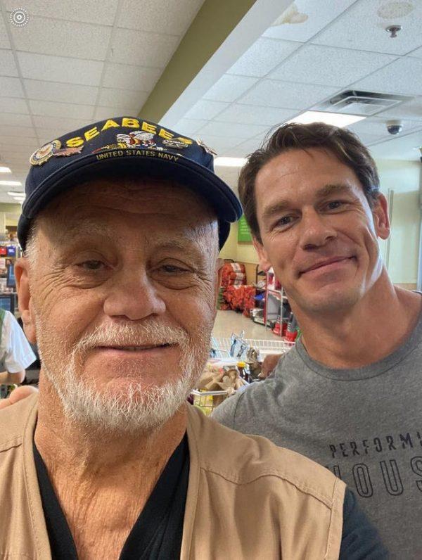 John Cena buys groceries for army veteran