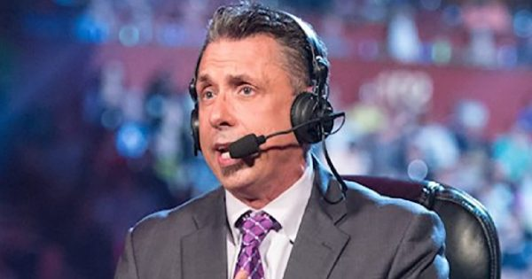 Is Michael Cole becoming less active as an announcer?