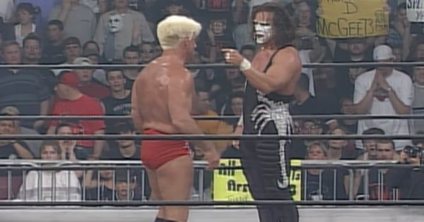 Ric Flair with Sting in WCW