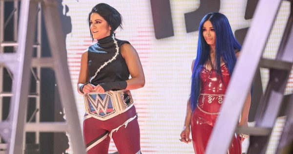 Sasha Banks is doing some valet work