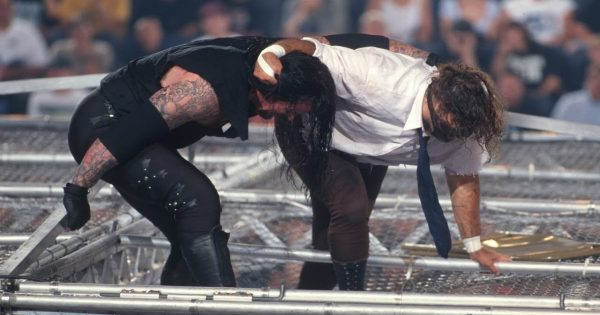 Mark Calaway wrestled Mick Foley with a broken foot