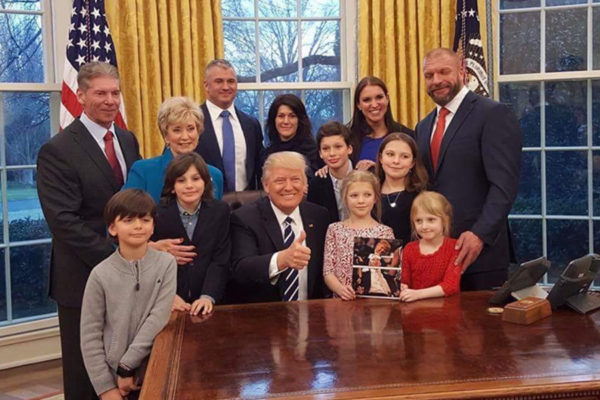 The McMahon Family has strong ties with the Trump administration