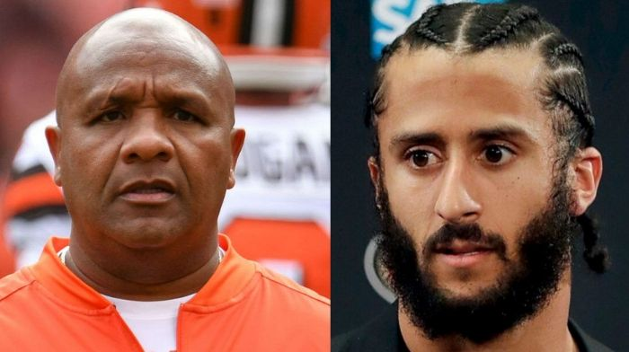 Hue Jackson Says He Tried to Sign Kaepernick in 2017