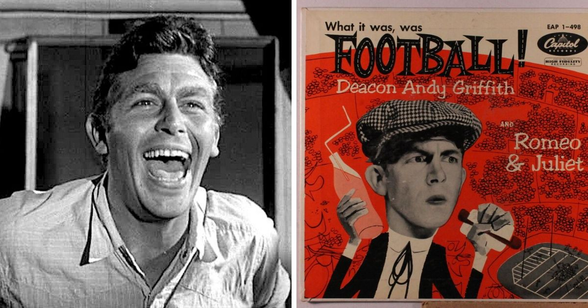 Andy Griffith's Comedy Monologue On Football - Released On November 14, 1953 - Is Still Hilarious