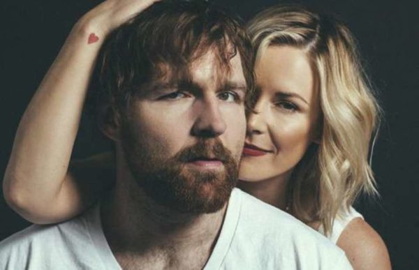 Jon Moxley and his wife Renee Young