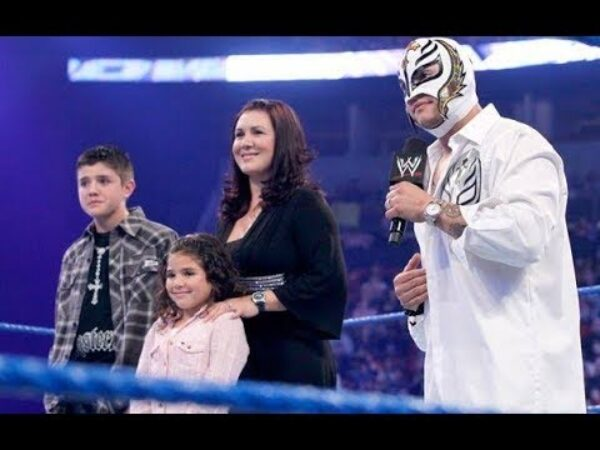 Unmasked photos of Rey Mysterio are really rare