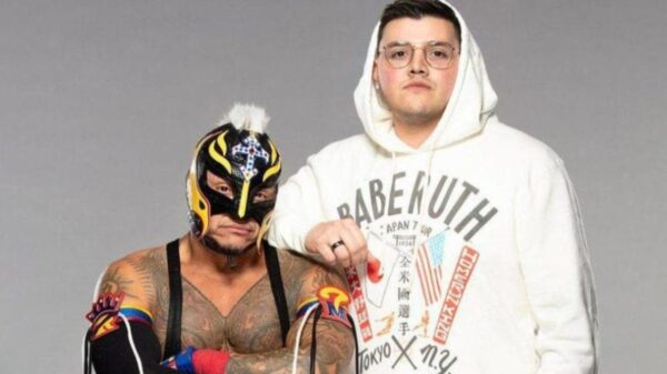 Dominik and Rey Mysterio