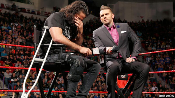 Seth rollins lost the title due to injury