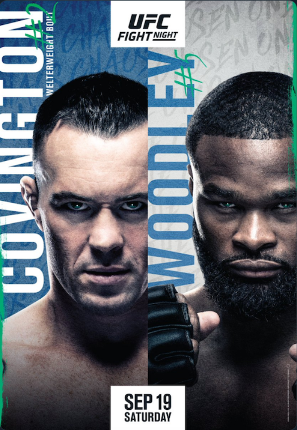 Poster For UFC Vegas 10, Colby Covington vs. Tyron Woodley