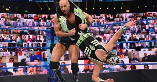 Cesaro and Gran Metalik Match
