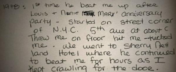 Nicole Brown Simpson OJ Diaries abuse
