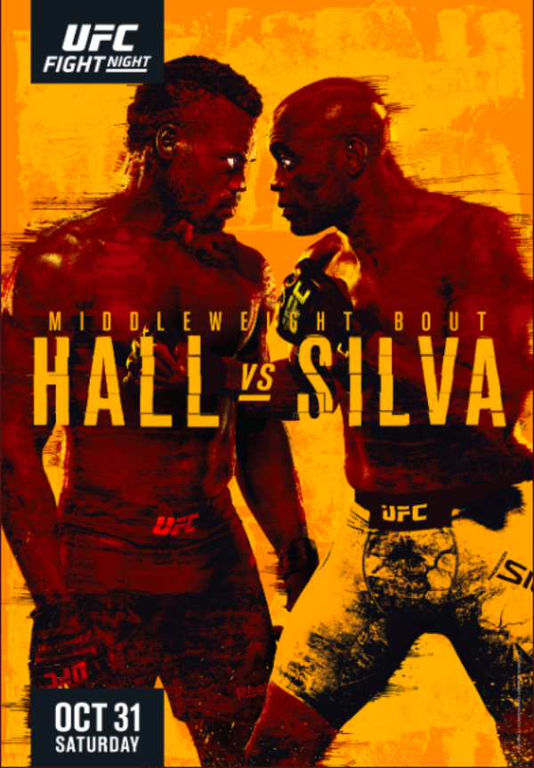 UFC Vegas 12: Poster For Uriah Hall vs. Anderson Silva is Out
