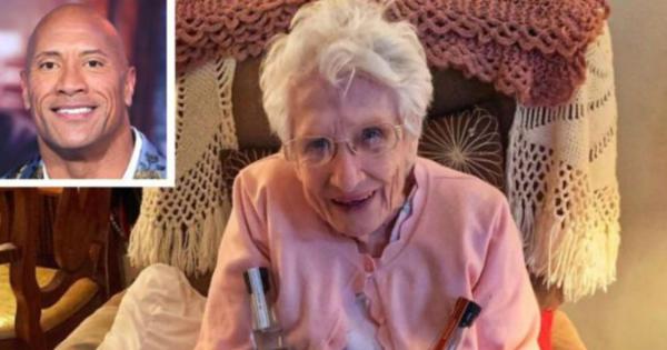 101 year old fan gets surprise from Dwayne The Rock Johnson