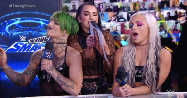 Ruby Riott and Liv Morgan with Billie Kay