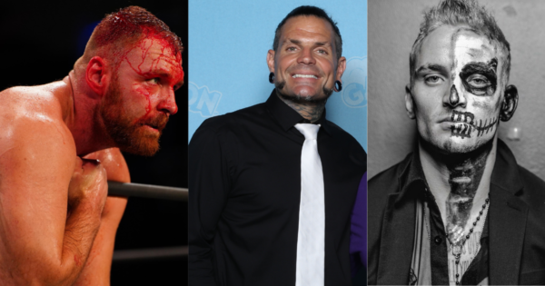 Jon Moxley, Jeff Hardy and Darby Allin