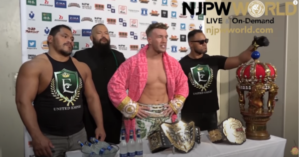 AJ Styles reacts to Will Ospreay winning the IWGP World Heavyweight Championship