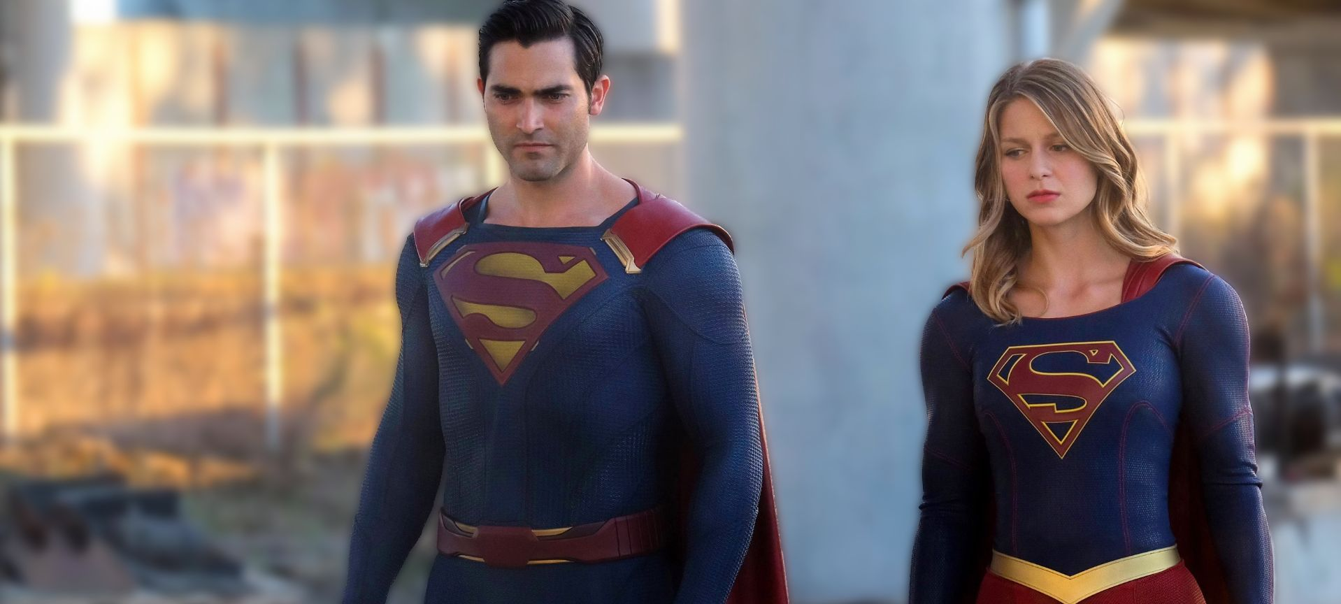 "Tyler Hoechlin and Melissa Benoist in ""Supergirl"" - CW"