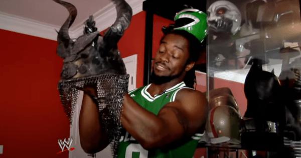 Kofi Kingston's helmet collection
